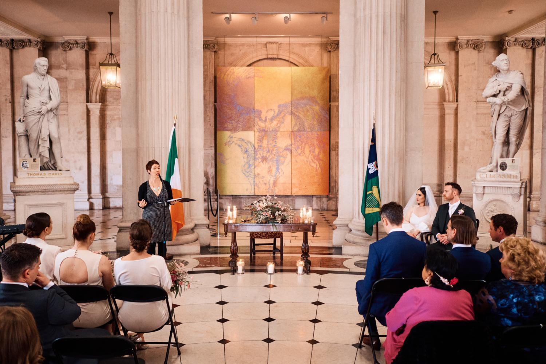 Humanist ceremony at Dublin City Hall
