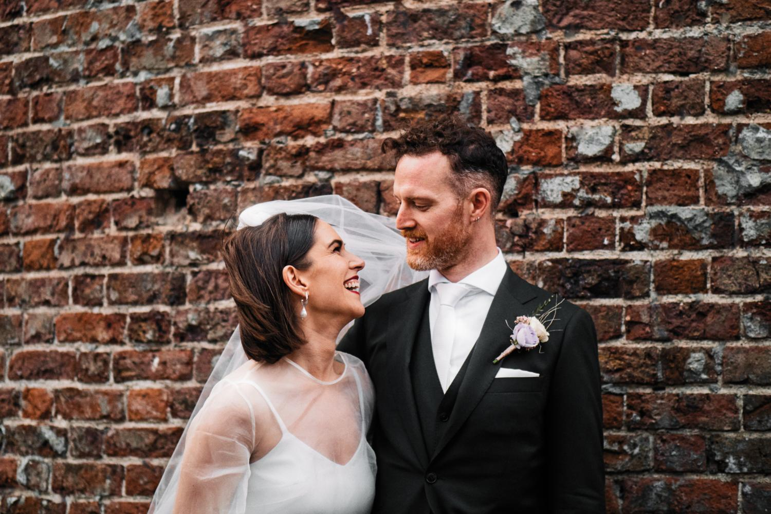 Bride and groom in Dublin City