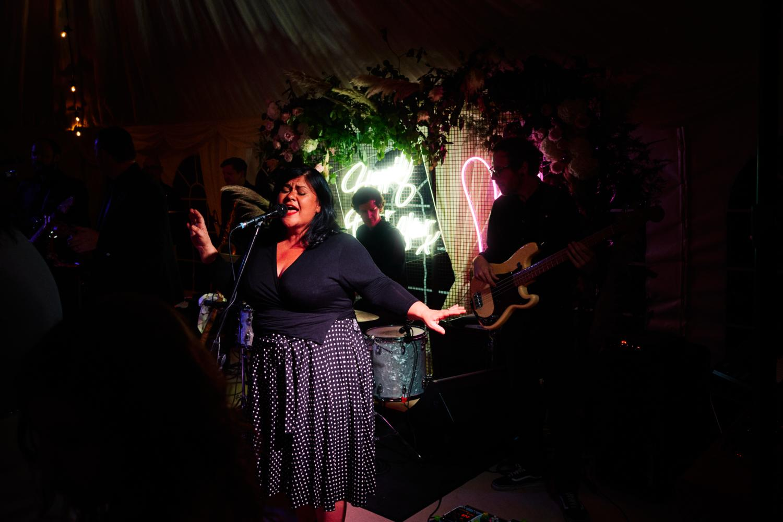 Singer at a wedding