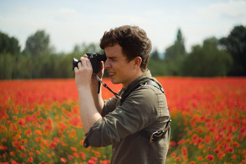 Derry wedding photographer in red field
