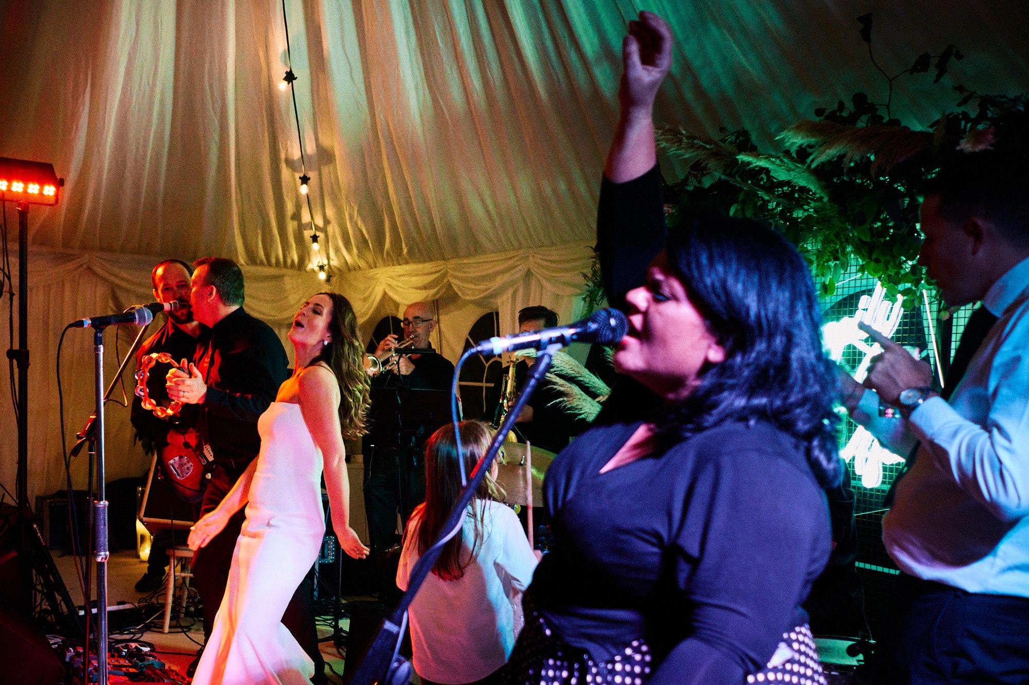Dungannon bride dances on stage